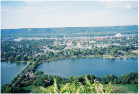 View of lake Winona from Garvin Heights